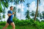 """Постер, картина, фотообои """"Здоровый образ жизни. Jogger Бег. Спортивный Runner Человек бег трусцой. Sp"""""""