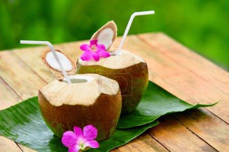 Drink Coconut Water, Milk. Diet. Nutrition, Hydration. Vitamins.