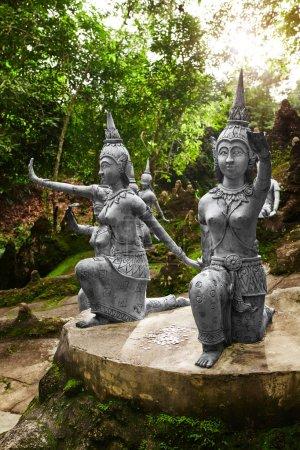 Thailand. Statues In Secret Buddha Garden In Koh Samui. Buddhism