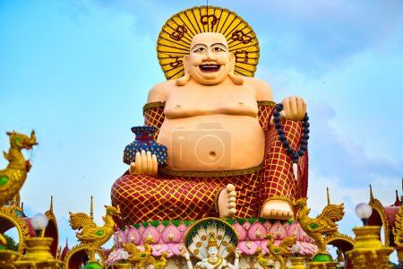 Thailand Landmark. Big Fat Laughing Buddha Statue ...