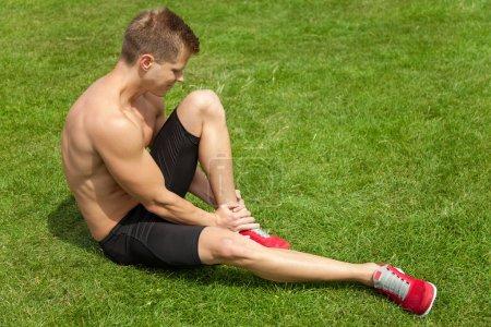 Leg injury during excercise