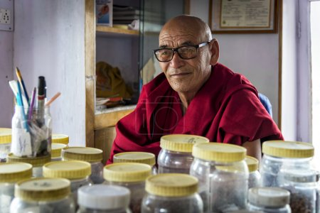 The herbalist of Thiksey Gompa in Ladakh, India