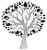 "Постер, картина, фотообои ""стилизованные tree.pencil drawing.silhouette.graphic искусств"""