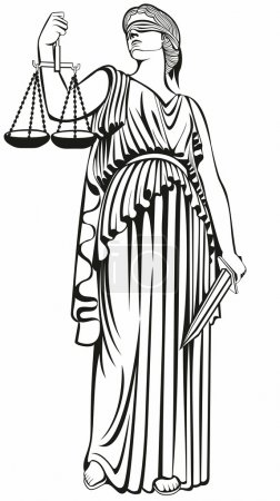 Justice.Greek goddess Themis.Equality .A fair trial.Law.lady justice