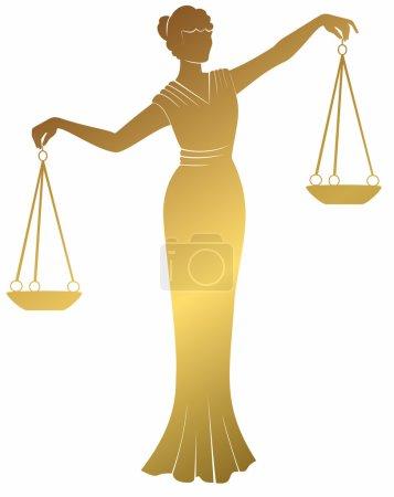 Illustration pour Libra .lady justice Thématiques. Egalité équilibre droit à un procès équitable  . - image libre de droit