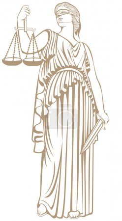 Lady justice . Greek goddess Themis . Equality   fair trial and Law.