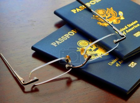 American Passports and Glasses