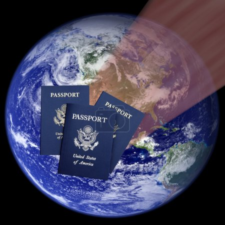 American passports and Earth