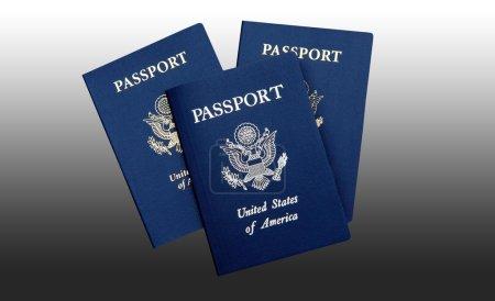 Three american passports
