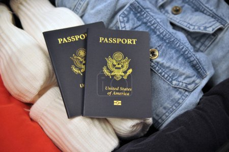 Arerican Passports on clothes