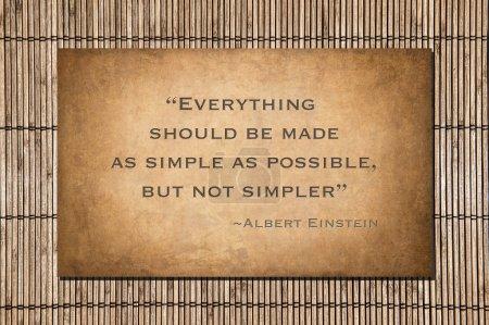 Альберт цитата Эйнштейны над бамбука