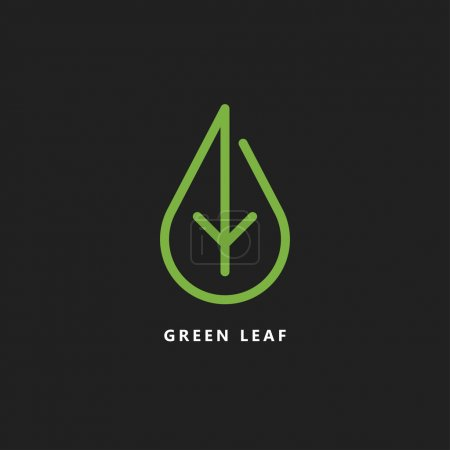 Illustration for Vector design template of green leaf logo - Royalty Free Image