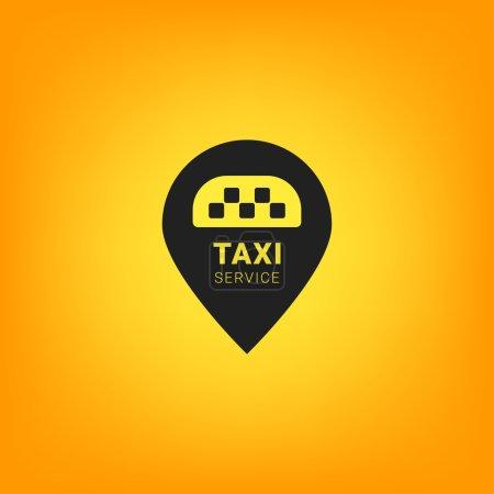 Illustration pour Logo Taxi noir et jaune. Symbole des transports publics - image libre de droit