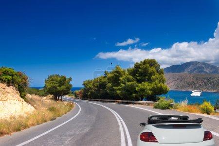 Photo pour Route ouverte vers la mer sur l'île de Crète. Grèce - image libre de droit