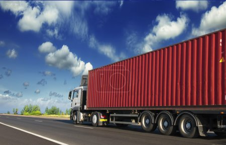 Trailers carrying containers