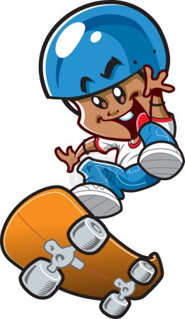 Ethnic Skateboard Boy