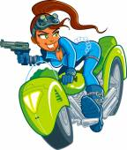 Motorcycle Spy Girl