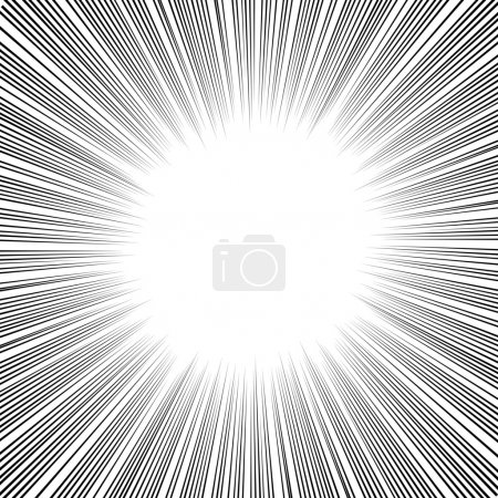 Illustration for Radial Speed Lines graphic effects for use in comic books, manga and illustration - Royalty Free Image