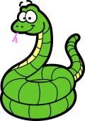 Smiling Cartoon Snake