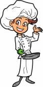 Smiling Female Chef