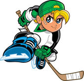 Anime Manga Hockey Player