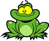 Smiling Cartoon Frog