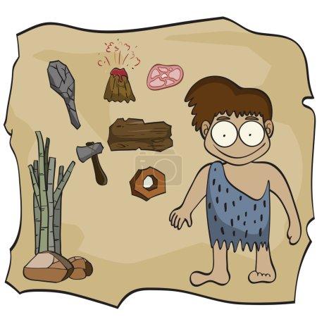 Stone age cartoon,vector illustration