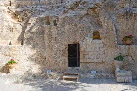 Photo pour Le tombeau du jardin de Jérusalem est l'un des deux sites présumés de sépulture de Jésus-Christ - image libre de droit