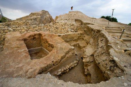Photo pour Vieilles ruines à Tell es-Sultan, mieux connu sous le nom de Jéricho la plus ancienne ville du monde - image libre de droit
