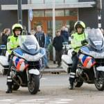 Постер, плакат: Policemen on motorcycles