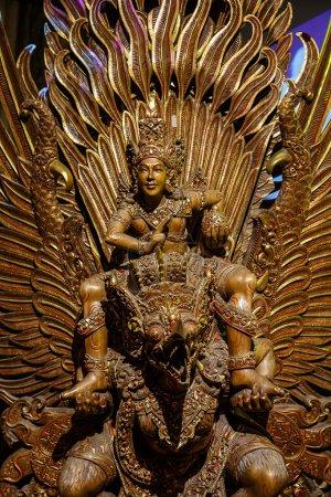 Nakhon Pathom, Thailand - May 1, 2015: Garuda statue of the Hindu. Woodland Museum In Nakhon Pathom, Thailand