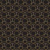 Abstract geometric pattern.Seamless golden vector background