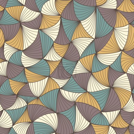Illustration for Abstract seamless geometric pattern. Colorful wallpaper. Vector illustration - Royalty Free Image