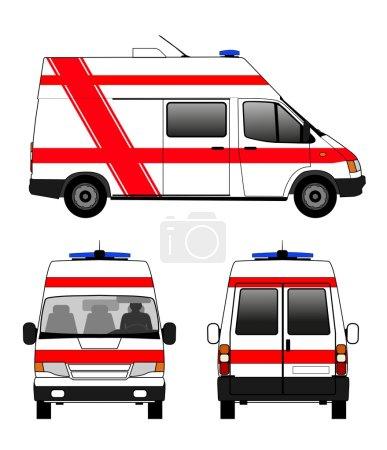 Illustration for Illustration of ambulance emergency - Royalty Free Image