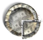 """Постер, картина, фотообои """"фрагмент из нас доллар деньги пирог"""""""