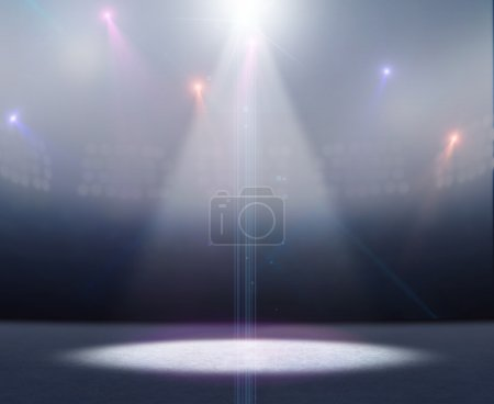 Ice Rink Stadium Spotlight