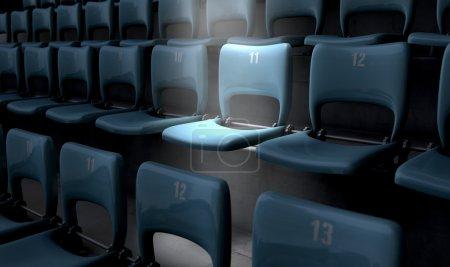 Highlighted Stadium Seat