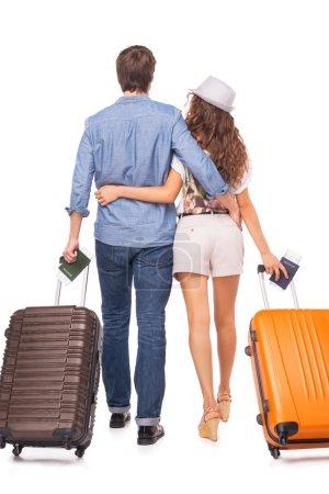 Attractive couple of tourist