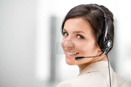 Concept for call center worker