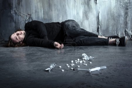 Concept for drug addiction and despair