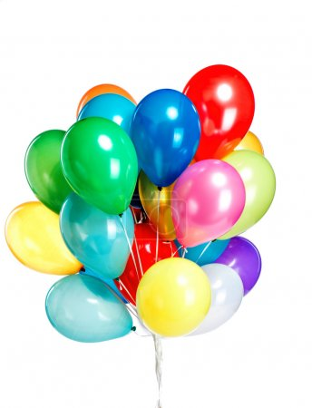 Colorful and big bunch of balloons