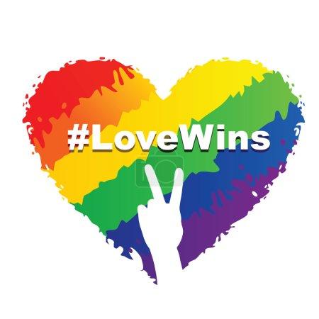 Love Wins - LGBT Heart