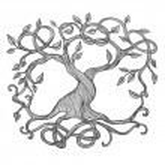 Celtic tree of life, illustration of Yggdrasil...