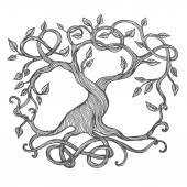 Celtic tree of life illustration of Yggdrasil