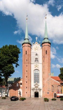 Medieval Gothic cathedral in Gdansk Oliwa in Polan...