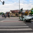 Постер, плакат: Crosswalk after car accident in Cracow Poland