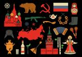 A set of Russian themed icons