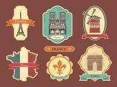 Stickers with symbols of France