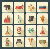 Russian icons Vector Illustration