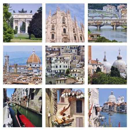 Set of photos - Landmarks of Italy